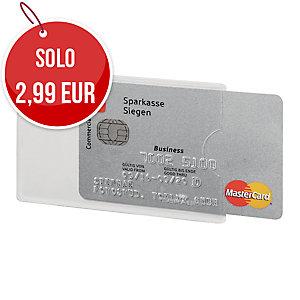 TASCA PORTATESSERE RFID SECURE DURABLE TRASPARENTE CONF. 3