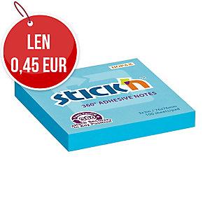 Samolepiaci bloček STICK N Notes 360°, 76 x 76 mm, modrý
