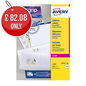 Avery L7161-250  Labels, 63.5 x 46.6 mm, 18 Labels Per Sheet