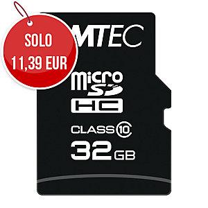 SCHEDA MEMORIA MICRO SDHC CLASSIC CLASSE 10 EMTEC CON ADATTORE 32 GB
