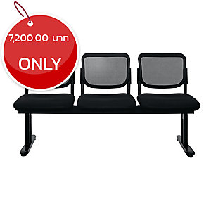 ZINGULAR ZR-1005/3 WAITING CHAIR 3 SEATS MESH FABRIC BLACK