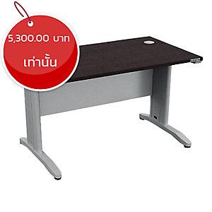 ELEMENTS โต๊ะทำงานขาเหล็ก รุ่นIDF-1260 120X60X75 ซม. สีโมดิโอ๊ค/ขาว