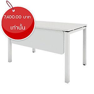 ELEMENTS โต๊ะทำงานขาเหล็ก รุ่น5DF-1260 120X60X75 ซม. สีขาว