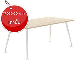 ELEMENTS โต๊ะประชุม รุ่นABBIE 7M1-18900 180X90X75 ซม. สีเมเปิ้ล/ขาว