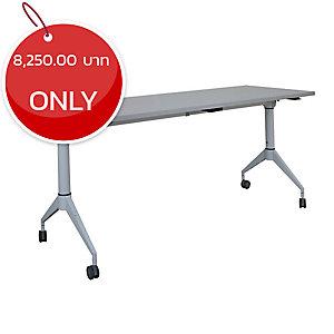 METAL PRO LS-718-120 FOLDING TABLE WITH WHEELS 120X60X75 CM