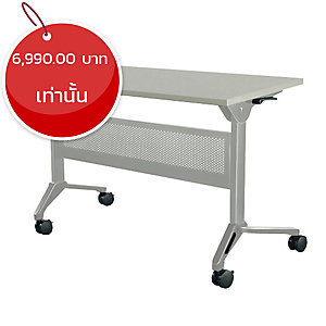 METAL PRO โต๊ะอเนกประสงค์พับได้ มีล้อ+บังตาเหล็ก รุ่น LS-711A-180 180X60X75ซม.