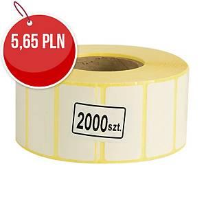 Etykiety termotransferowe 40 x 20 mm, rolka 2000 sztuk