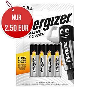 Energizer Alkaline Power Batterien, AAA / LR03 4 Stück in Packung