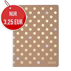 Herlitz Pure Glam Spiralblock A4, kariert, 80 Blatt