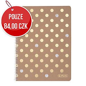 Poznámkový blok Herlitz Pure Glam A4, čtverečkovaný, 80 listů
