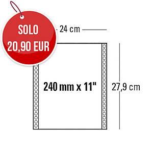 Moduli continui 240 mm x 11   a 1 copia 60 g/mq bianco - conf. 2000