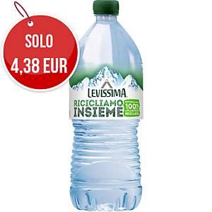 Acqua minerale naturale Levissima LaLitro bottiglia RPET 1 L - conf. 6