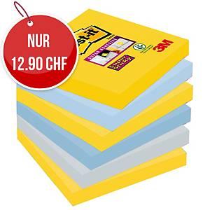 Haftnotizen Post-it Super Sticky, 76x76mm, NY, Packung à 6 Stück
