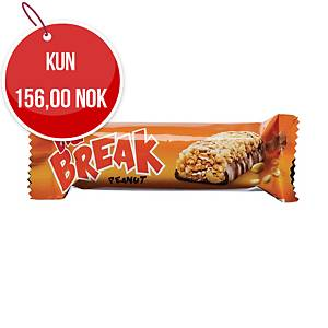 Müslibar Big Break peanøtt, 40 g, pakke à 24 stk.