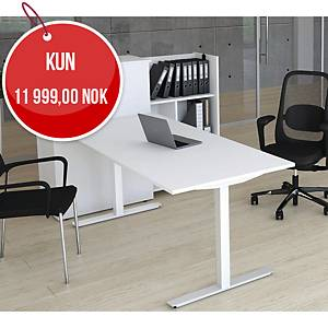 Skrivebord Square, 160 x 80 cm, hvit/hvit