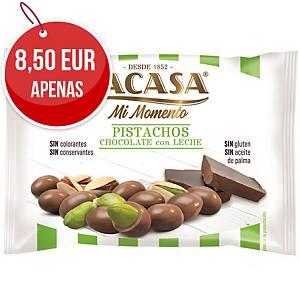 Pack de 14 sacos de pistácios com chocolate de leite Lacasa - 25 g
