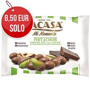 Pack de 14 bolsas de pistachos con chocolate con leche Lacasa - 25 g