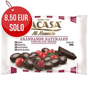 Pack de 14 bolsas de arandanos con chocolate negro Lacasa - 30 g