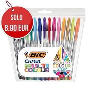 Penna a sfera con cappuccio Bic® Cristal Multi Colour - conf. 15