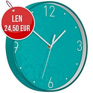 Nástenné hodiny Leitz WOW, ľadovo modré