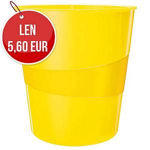 Odpadkový kôš Leitz WOW 15 l, žltý