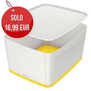 Contenitore Leitz MyBox® L con coperchio bianco/giallo