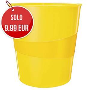 Cestino Leitz Wow polistirene 15 L giallo metallizzato