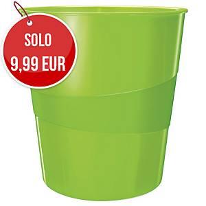 Cestino Leitz Wow polistirene 15 L verde lime
