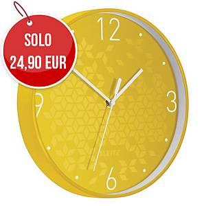 Orologio da parete Leitz WOW Ø 29 giallo