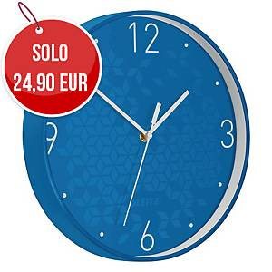 Orologio da parete Leitz WOW Ø 29 azzurro