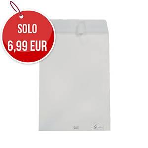 Buste a sacco con lembo autoadesivo Blasetti 19X26 mm 80g bianco - conf. 100