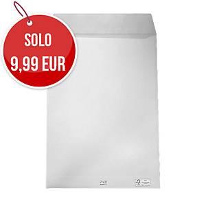 Buste a sacco con lembo autoadesivo Blasetti 25X35,3 mm 80g bianco - conf. 100