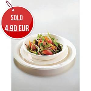 Piatti piani in fibra biodegradabile Duni Eco Echo ø 22 cm bianco - conf   50
