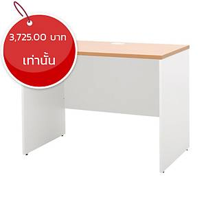 SIMMATIK โต๊ะทำงานไม้ L-WK120W สีบีช/ขาว