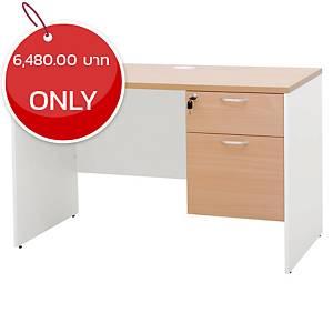 SIMMATIK L-WK120DA Office Table Beech/White