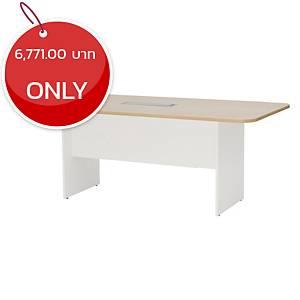 SIMMATIK L-MTW180 Meeting Table Aged Oak/White
