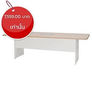 SIMMATIK โต๊ะประชุมไม้ L-MTW240 240X90X75 ซม โอ๊ค/ขาว