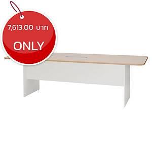 SIMMATIK L-MTW240 Meeting Table Aged Oak/White