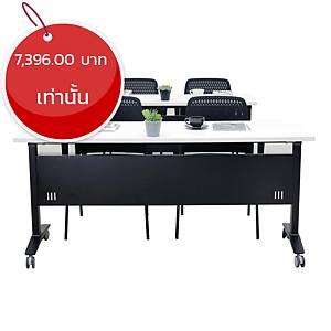 SIMMATIK โต๊ะเทรนนิ่ง L-TRN140 140X60X75 ขาว/ดำ