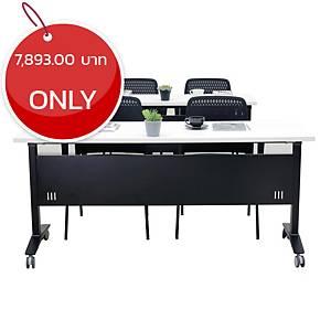 SIMMATIK L-TRN180 TRAINING TABLE 180X60X75 CM WHITE/BLACK