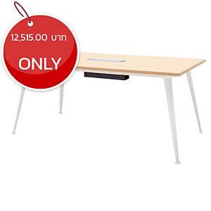 SIMMATIK L-MT-OV160 MEETING TABLE 160X90X75 CM AGED OAK/WHITE