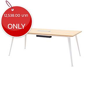 SIMMATIK L-MT-OV200 MEETING TABLE 200X90X75 CM AGED OAK/WHITE