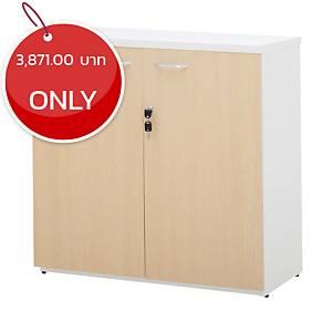 SIMMATIK L-CA80 Filing Cabinet Aged Oak/White