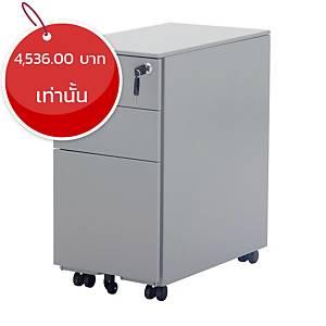 SIMMATIK ตู้ลิ้นชักล้อเลื่อน L-BDS30S 30X52X60 ซม เงิน