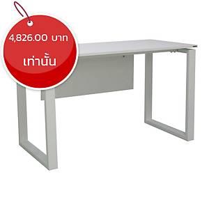 METAL PRO โต๊ะทำงาน LOOP B สีขาว