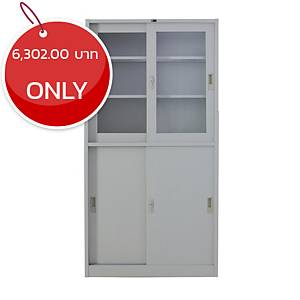 METAL PRO MET-YB04 Steel Slide Door Cabinet Grey