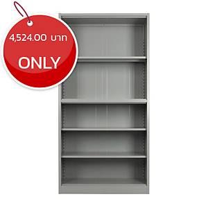 METAL PRO MET-W01 Steel Open Shelf Cabinet Grey