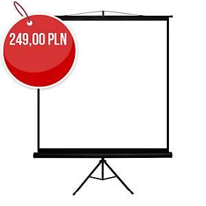 Ekran projekcyjny na statywie 4WORLD 152x152 cm