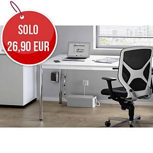 Scatola ordinacavi CAVOLINE® BOX L Grigio - 40,6 x P 15,6 x H 13,9 cm