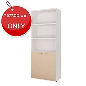 SIMMATIK L-CA2080 Filing Cabinet Aged Oak/White